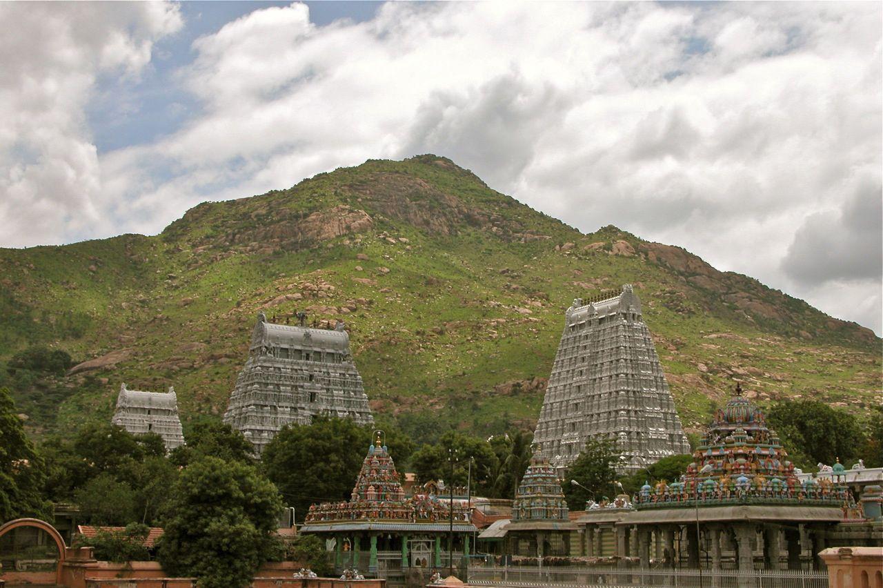 Sri Arunachalam as seen from across the Arunachaleswara ...  Sri Arunachalam...