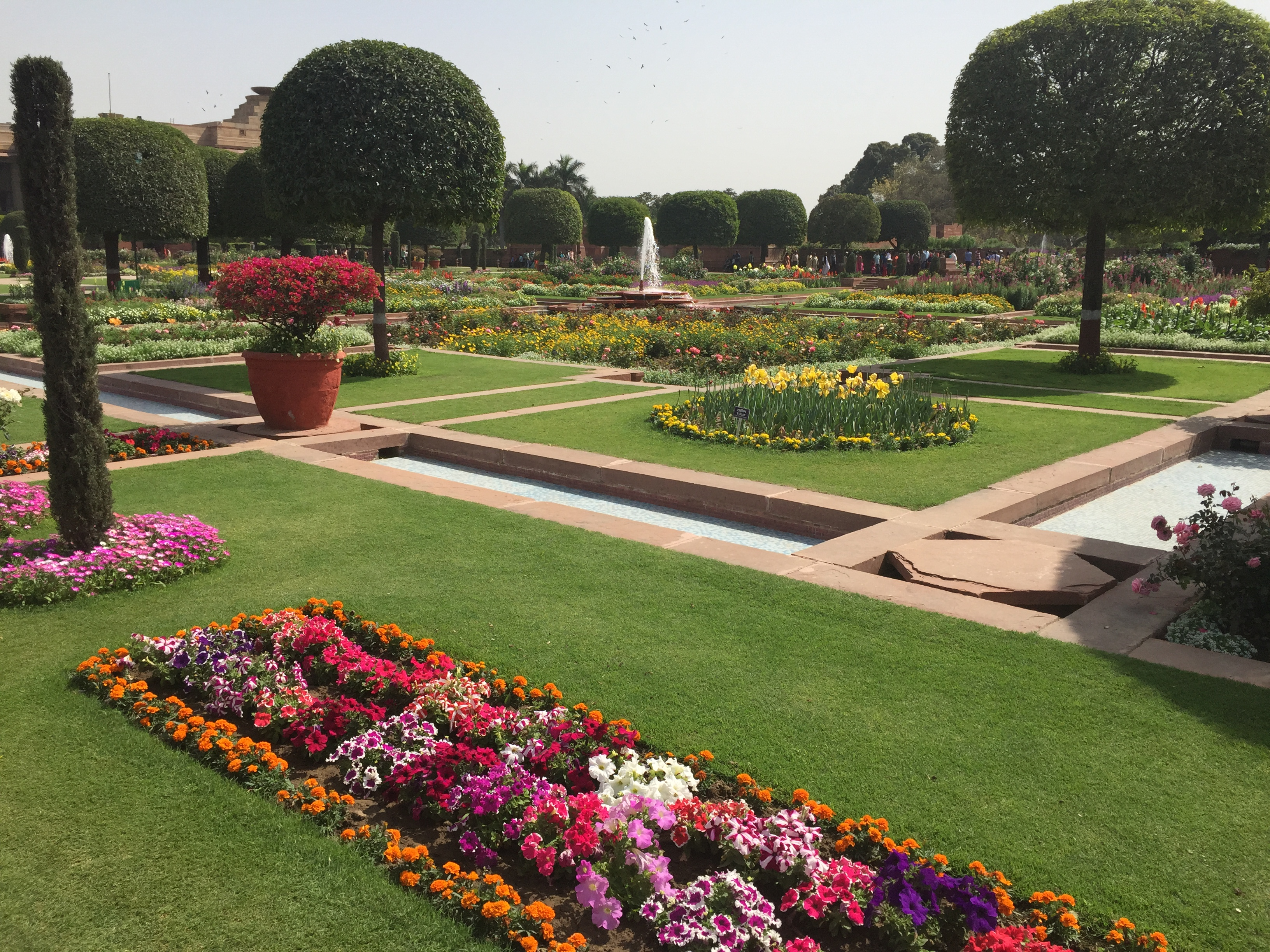 A visit to mughal gardens rashtrapati bhawan a few for Garden and its importance